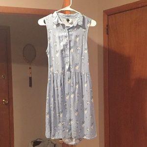 Blue & White Floral Sundress